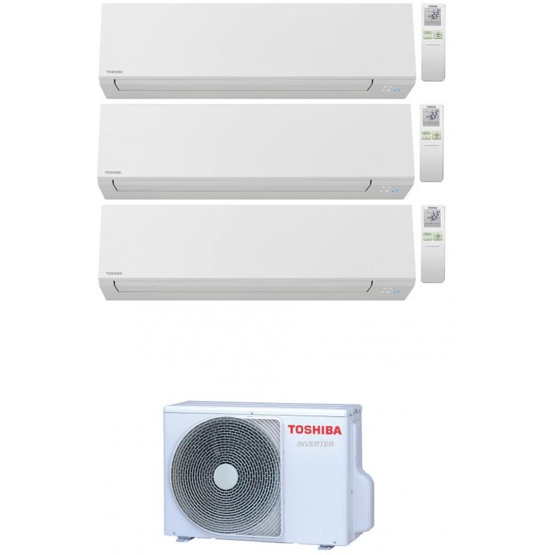 TOSHIBA SHORAI EDGE WIFI R32 CONDIZIONATORE TRIAL SPLIT INVERTER 7000+9000+9000 BTU RAS-3M18U2AVG-E A++
