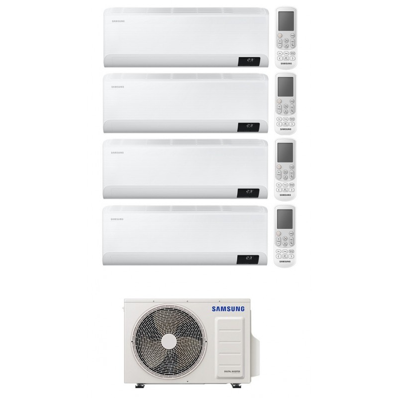 SAMSUNG CEBU CONDIZIONATORE QUADRI SPLIT 7000+9000+9000+12000 BTU INVERTER WIFI R32 AJ080TXJ4KG A++ NEW 2020