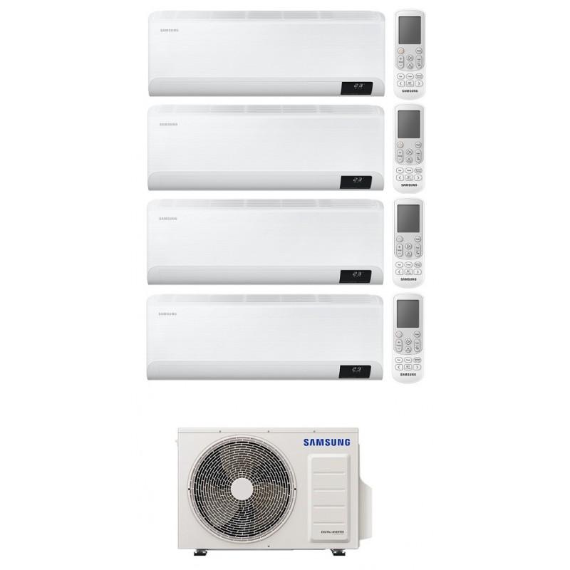 SAMSUNG CEBU CONDIZIONATORE QUADRI SPLIT 9000+9000+9000+12000 BTU INVERTER WIFI R32 AJ080TXJ4KG A++ NEW 2020
